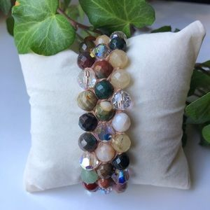 Chan Luu Semi Precious Stone Single Wrap Bracelet